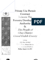 Private Use Permit Between The Forestry Development Authority and the People of Gbao, Grand Gedeh County August 2011