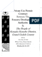 Private Use Permit Between The Forestry Development Authority and the People of Kornado, Grand Gedeh July 2011