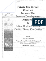 Private Use Permit Between The Forestry Development Authority and the People of Bolloh, Dorbor, and Fenetoe District, Grand Kru County September 1, 2010
