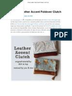 (Falso) Leather Clutch Accent Foldover _ você e mie