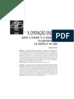 A operação ensaio. Jorge Larrosa Buendía