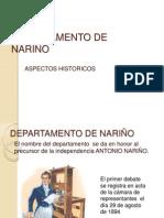 DEPARTAMENTO DE NARIÑO ASPECTOS HISTORICOS