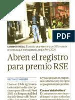 Abren El Registro Para Premio RSE