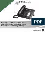 ENT PHONES IPTouch-4008-4018-4019Digital-OXEnterprise Manual 0907 US
