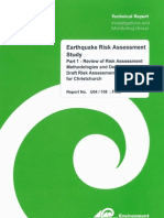 Christchurch Earthquake Risk Assessment Stage1 Report