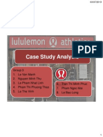 Case Study Analysis Lululemon