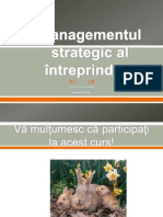 Managementul Strategic Al Intreprinderii