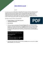 Cara Lengkap Instalasi Windows Xp Sp2