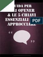 Guida Per Gli Opener & Le 5 Chiavi Essenziali Per Approcciare
