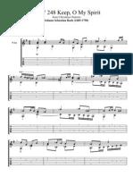 BWV 248 Keep O My Spirit by Johann Sebastian Bach