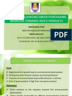 Slide Thesis Green Purchase Behavior