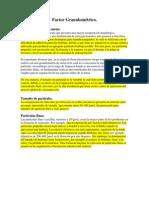 Factor Granulométrico