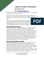 002 Rheenen, Modellen Voor Gebruik Van Geld in Zendingswerk (SV)
