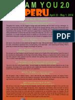 Dream You 2.0 Peru Intenerary 2014