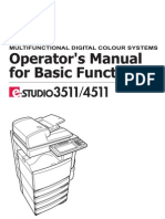 Toshiba 3511 Operator Manual
