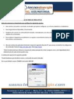 MANUAL  DE CONFIGURACIÓN MODEM DE FIBRA OPTICA