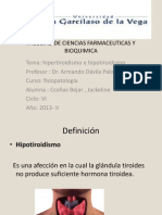 Exposicion de Fisiopatologia Hipo e Hipertiroidismo