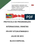 ATA DE PROTOCOLO DE PROGRAMAÇÃO  INTERNACIONAL VINHETAS