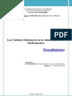 Medicamentos Procedimientos PDF