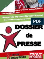 Dossier de Presse GA Mercredi 3 Juillet 2013