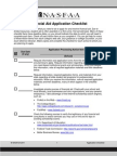 Financial Aid and Scholarship Application_Checklist