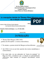 As concepções iniciais de Thomas Hunt Morgan