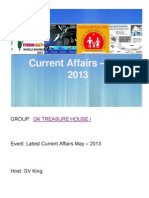 GK Treasure House_s Latest Current Affairs May - 2013