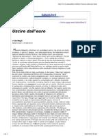 ItalianiLiberi - Apriamo la discussione – Dieci buoni motivi per uscire dall'euro