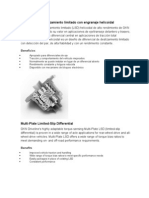 Diferencial de Deslizamiento Limitado Con Engranaje Helicoidal