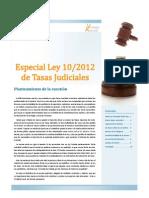 Newsletter Tasas Judiciales