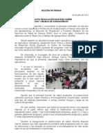 04/07/13 Germán Tenorio Vasconcelos IMPARTE REGULACIÓN SANITARIA CURSO TALLER  USO Y MANEJO DE AGROQUÍMICOS