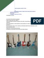 Réplica em miniatura da guitarra modelo Les Paul