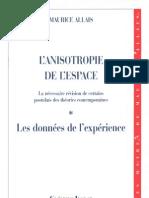 ALLAIS Maurice - L'Anisotropie de l'Espace (1997)
