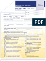 Admission Form Fall 2013
