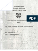Software Proceso Evaluacion Estado Puentes
