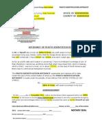 Photo Identification Affidavit Template