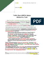 Traffic Stop LAWFUL Notice