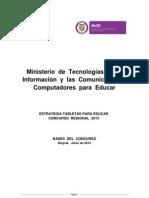 Tabletas Para Educar 2013 Bases Del Concurso_0