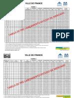 Tabela VILLE de FRANCE Pre-Lancamento