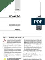 IC M34 Manual