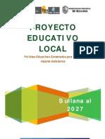 Proyecto Educativo Local