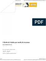 Cálculo de Límites por medio de teoremas, por WikiMatematica