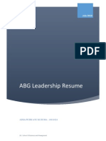 Resume ABG Leadership