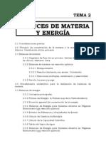 +TEMA 2 Balance de Materia y Energia
