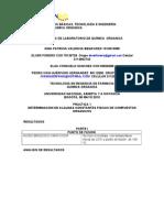 INFORME DE LABORATORIO DE QUÌMICA  ORGANICA