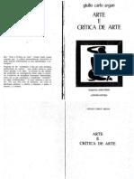 Arte e Crítica de Arte