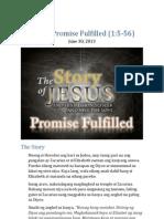 Part 1 - Promise Fulfilled (Luke 1:5-56)