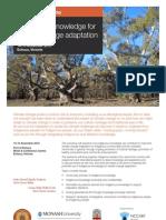National Workshop on Indigenous Knowledge for Climate Change Adaptation - Workshop Program