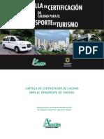 Cartilla Certificacion Calidad Transporte de Turismo