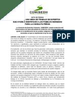 NP 2013-XIV Se creará una mesa de trabajo de expertos que ayude a identificar a los pueblos indígenas para la Consulta Previa